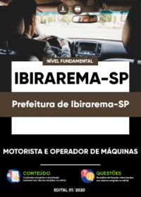 Motorista e Operador de Máquinas - Prefeitura de Ibirarema-SP