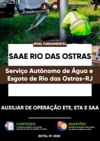 Auxiliar de Operação ETE, ETA e SAA - SAAE Rio das Ostras-RJ
