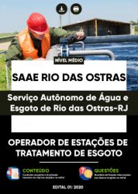 Operador de Estações de Tratamento de Esgoto - SAAE Rio das Ostras-RJ