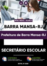 Secretário Escolar - Prefeitura de Barra Mansa-RJ