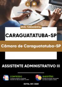 Assistente Administrativo III - Câmara de Caraguatatuba-SP