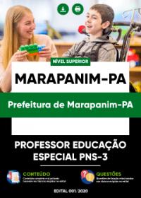 Professor Educação Especial PNS-3 - Prefeitura de Marapanim-PA