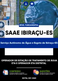 Operador de Estação de Tratamento de Água - ETA e outro - SAAE Ibiraçu-ES