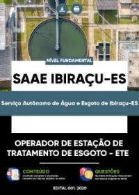 Operador de Estação de Tratamento de Esgoto - ETE - SAAE Ibiraçu-ES