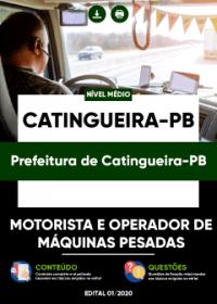 Motorista e Operador de Máquinas Pesadas - Prefeitura de Catingueira-PB