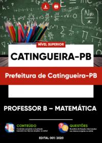 Professor B - Matemática - Prefeitura de Catingueira-PB