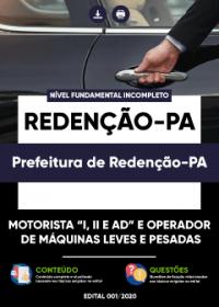 Motorista e Operador de Máquinas Leves e Pesadas - Prefeitura de Redenção-PA