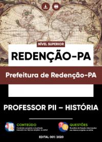 Professor PII - História - Prefeitura de Redenção-PA
