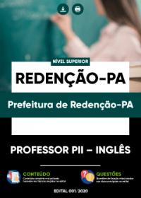 Professor PII - Inglês - Prefeitura de Redenção-PA