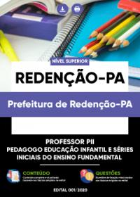 Professor PII - Educação Infantil e Séries Iniciais - Prefeitura de Redenção-PA