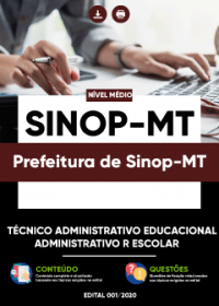 Técnico Administrativo Educacional - Prefeitura de Sinop-MT