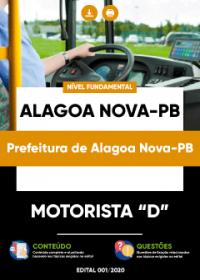Motorista D - Prefeitura de Alagoa Nova-PB