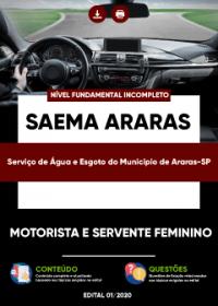 Motorista e Servente Feminino - SAEMA Araras