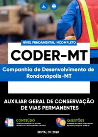 Auxiliar Geral de Conservação de Vias Permanentes - CODER-MT