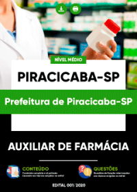 Auxiliar de Farmácia - Prefeitura de Piracicaba-SP