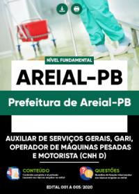 Auxiliar de Serviços Gerais, Gari e outros - Prefeitura de Areial-PB