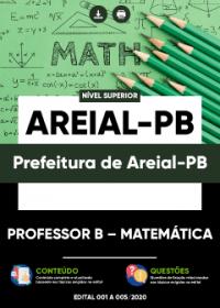 Professor B - Matemática - Prefeitura de Areial-PB