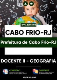 Docente II - Geografia - Prefeitura de Cabo Frio-RJ