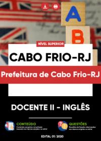 Docente II - Inglês - Prefeitura de Cabo Frio-RJ