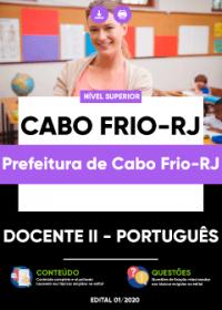 Docente II - Português - Prefeitura de Cabo Frio-RJ
