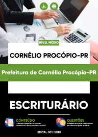Escriturário - Prefeitura de Cornélio Procópio-PR
