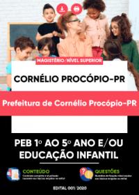 PEB 1º ao 5º ano e-ou Educação Infantil - Prefeitura de Cornélio Procópio-PR