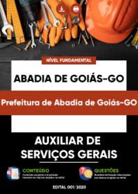 Auxiliar de Serviços Gerais - Prefeitura de Abadia de Goiás-GO