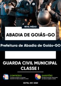 Guarda Civil Municipal Classe I - Prefeitura de Abadia de Goiás-GO