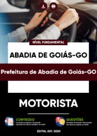 Motorista - Prefeitura de Abadia de Goiás-GO