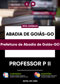 Professor P II - Prefeitura de Abadia de Goiás-GO