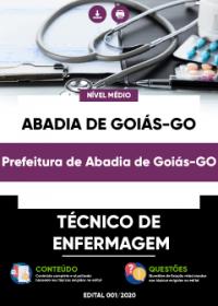 Técnico de Enfermagem - Prefeitura de Abadia de Goiás-GO