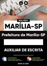 Auxiliar de Escrita - Prefeitura de Marília-SP