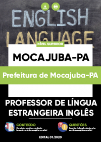 Professor de Língua Estrangeira Inglês - Prefeitura de Mocajuba-PA