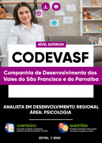 Analista em Desenvolvimento Regional - Área: Psicologia - CODEVASF