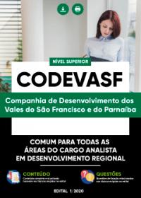 Comum as áreas de Analista em Desenvolvimento Regional - CODEVASF