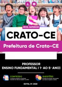 Professor - Ensino Fundamental I 1º ao 5º ano - Prefeitura de Crato-CE