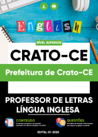 Professor de Letras - Língua Inglesa - Prefeitura de Crato-CE