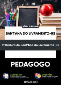 Pedagogo - Prefeitura de Sant´Ana do Livramento-RS