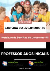 Professor Anos Iniciais - Prefeitura de Sant´Ana do Livramento-RS