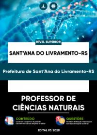 Professor de Ciências Naturais - Prefeitura de Sant´Ana do Livramento-RS