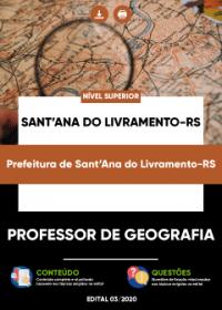 Professor de Geografia - Prefeitura de Sant´Ana do Livramento-RS