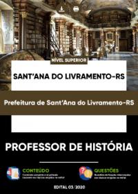 Professor de História - Prefeitura de Sant´Ana do Livramento-RS