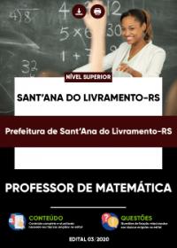 Professor de Matemática - Prefeitura de Sant´Ana do Livramento-RS