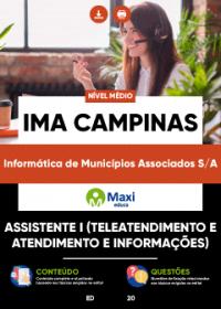 Assistente I (Teleatendimento e Atendimento e Informações) - IMA