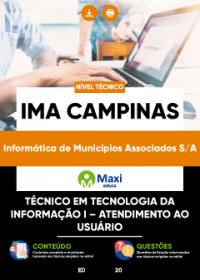 Técnico em Tecnologia da Informação I - Atendimento ao Usuário - IMA