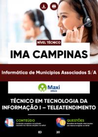 Técnico em Tecnologia da Informação I - Teleatendimento - IMA