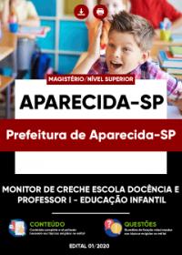 Monitor de Creche e Professor I - Prefeitura de Aparecida-SP