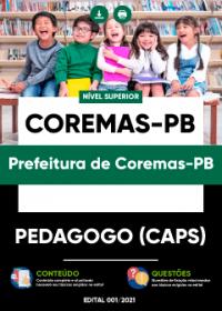 Pedagogo (CAPS) - Prefeitura de Coremas-PB