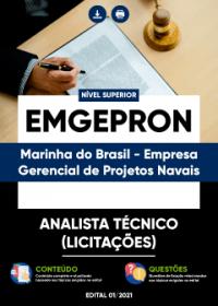 Analista Técnico (Licitações) - EMGEPRON