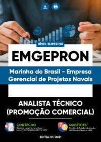 Analista Técnico (Promoção Comercial) - EMGEPRON